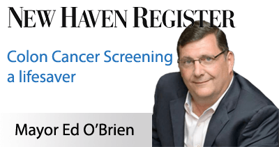 West Haven Mayor Ed O'Brien's colon cancer screening a lifesaver