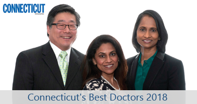 We proudly announce Doctor's Alaparthi, Chang, and Umashanker have been selected as 2018 Connecticut Magazine Best Doctors